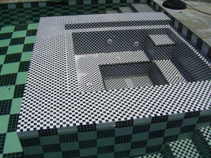 48 best susan jablon pools spas outdoor mosaic tile for Pool design pattern