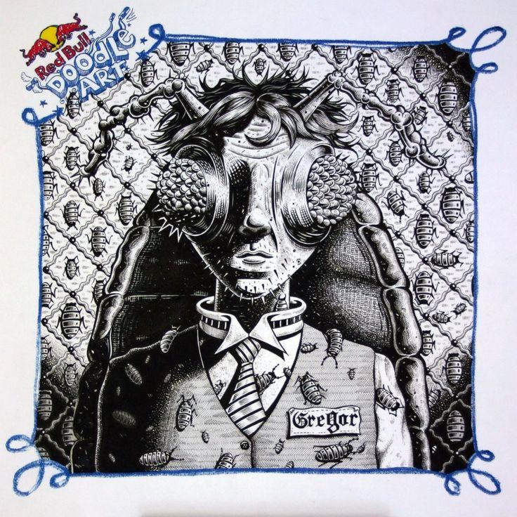 Red Bull Doodle Art Jacobus Edward Nienaber