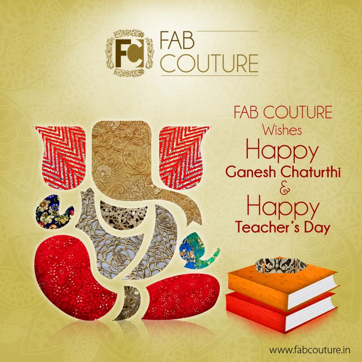 #FabCouture wishes everyone Happy Ganesh Chaturthi and Happy Teacher's Day!  #GaneshChaturthiGreetings  #Fab #Couture #IndianFestivals #Festivity#Fashion #Fabrics #Fun #EnjoyShopping #LookGood  #TraditionalLook