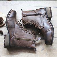 Nuevo 2016 pulsera de europa-estados unidos botas de estilo, medio tobillo cortas botas mujer botas de cuero moto Martin botas mujeres nieve zapatos de la bota