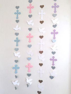Opción de bautizo Cruz y Paloma Garland por anyoccasionbanners
