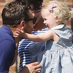 Jamie Dornan with daughter Dulcie.