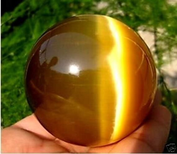 Golden Quartz Agate Sphere with Stand