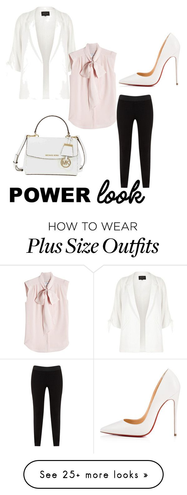 """Outfit 15 <3 (my power look contest entry)"" by haiitsjessica on Polyvore featuring River Island, MaxMara, JunaRose, Christian Louboutin and Michael Kors"