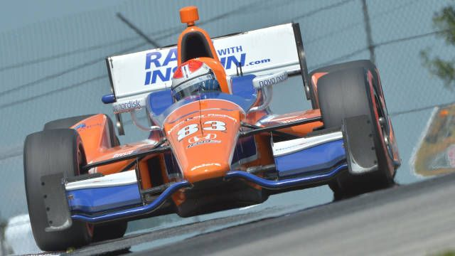 Mid-Ohio IndyCar: Kimball claims first win in strategy-defined race. Simon Pagenaud and Dario Franchitti round out the podium.