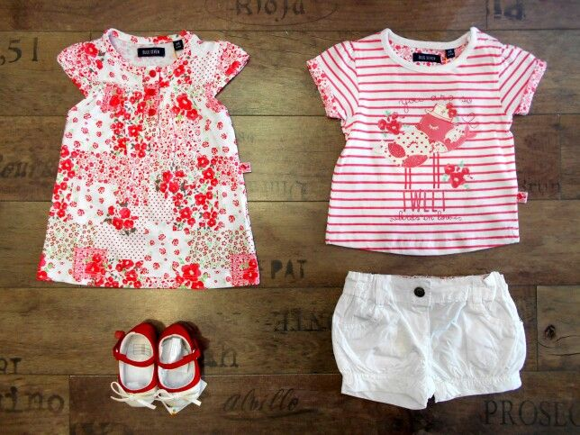 Blue Seven kids clothing Red&White!❤100% Cotton