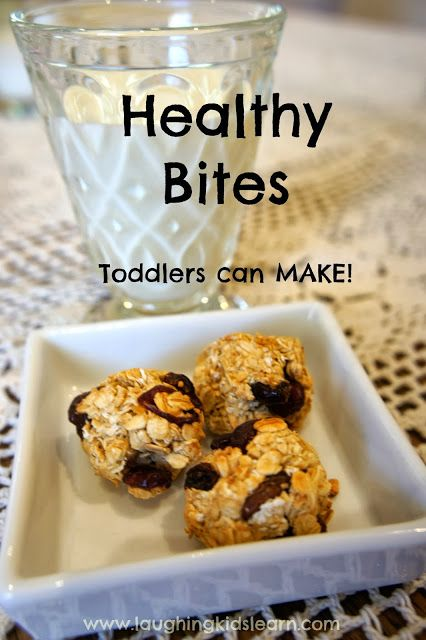 Healthy bites recipe that toddlers can make themselves. Laughing Kids Learn