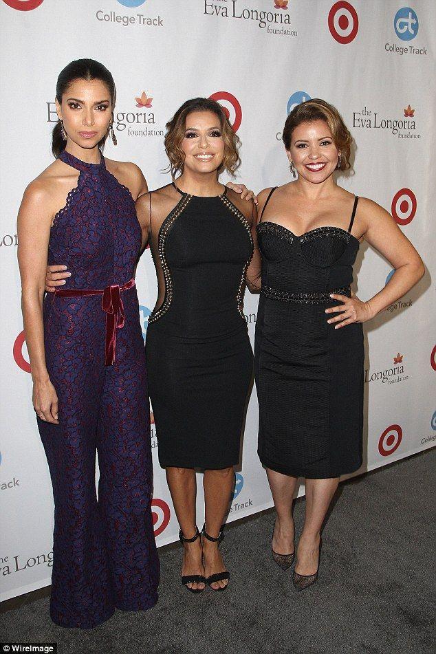 Gorgeous gals! Telenovela and Devious Maids stars Roselyn Sanchez and Justina Machado look...