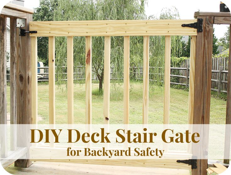 DIY Deck Stair Gate for Backyard Safety