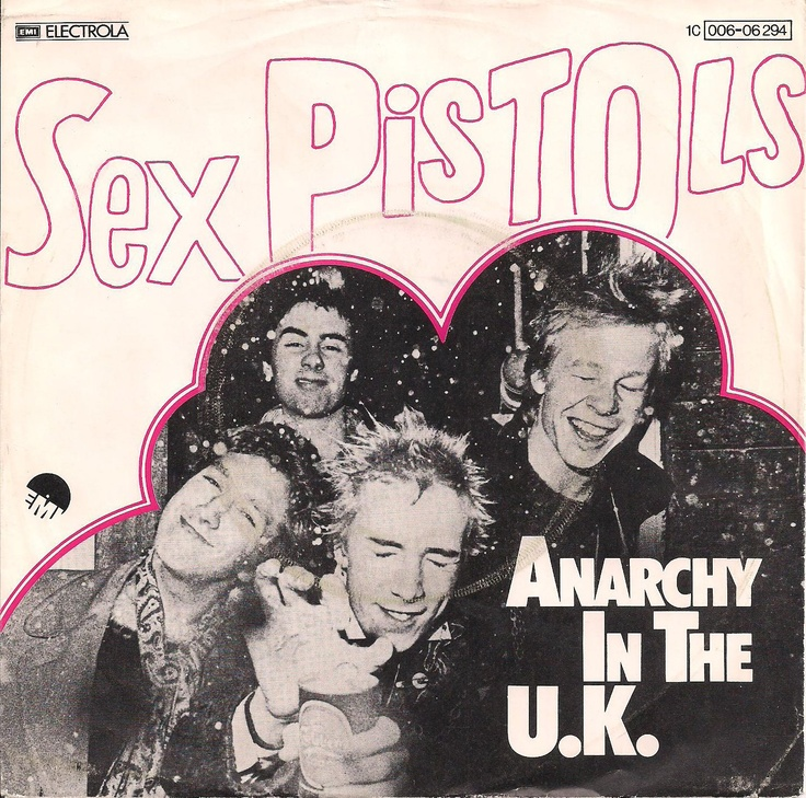 "Sex Pistols - Anarchy In The U.K. [1977, EMI Electrola 1C 006-06 294│Germany] - 7""/45 vinyl record"
