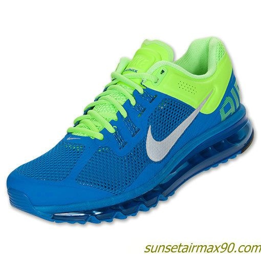 off Cheap Nike Air Max,Nike Air Max 2013 Mens Prize Blue Reflective Silver  Lime 554886 403