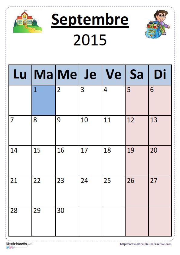 Plusieurs versions illustr es du calendrier scolaire 2015 - Calendrier scolaire 2015 2016 ...