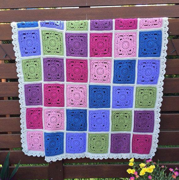 Crochet Throw by LilShopOCrochet on Etsy