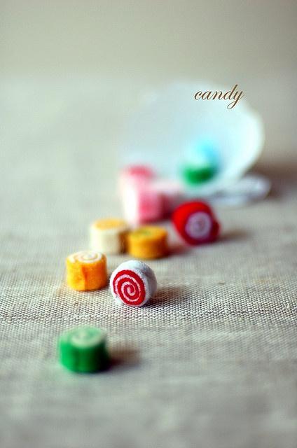 felt candy Hand felted??