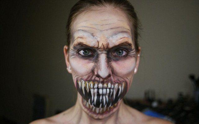 maquillage zombie sans latex