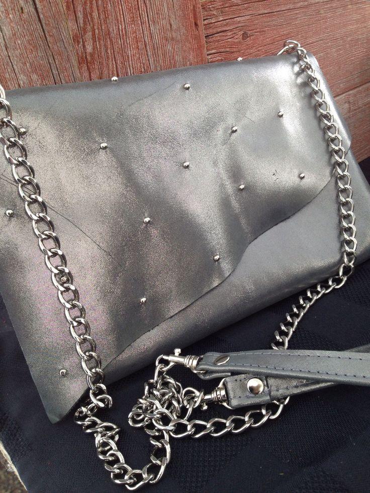 Gunmetal side bag