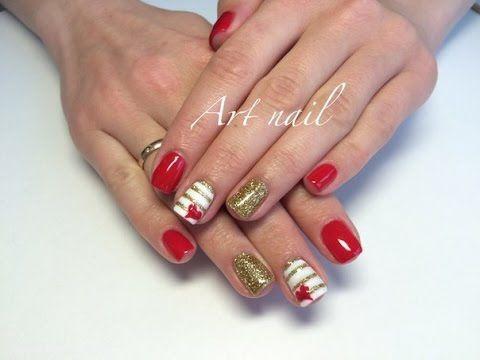 Дизайн Ногтей с Блестками! Маникюр с Сердечками! Nail Art Designs (Valentine's Day Designs) - http://47beauty.com/nails/index.php/nail-art-designs-products/  Яркий дизайн ногтей с блестками! Сердечки и полоски! Для покрытия Вам надо: базовый шеллак (гель-лак) cnd финишный шеллак (гель-лак) cnd цветной шеллак (гель-ла�