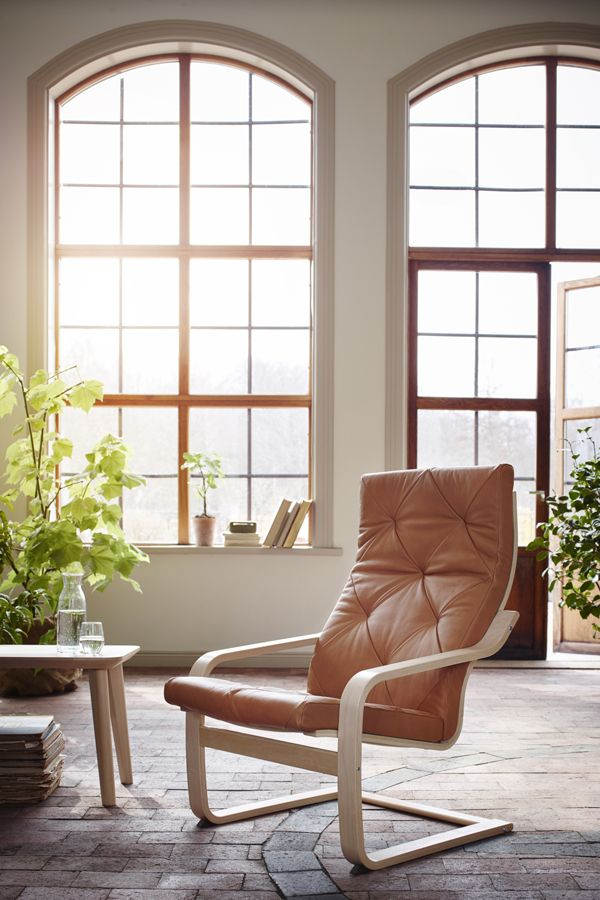 The IKEA POÄNG chair is the perfect addition to any room in your home. Just choose the frame you like and the fabric or leather cover that suits your style to get started on all that lounging.