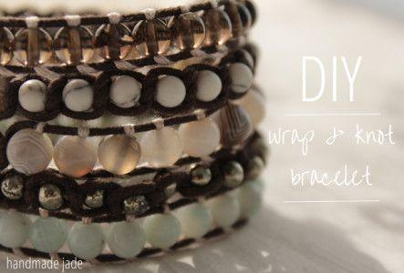 diy wrap knot bracelet