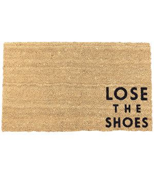 Lose the Shoes Doormat | As the first line of defense against dirt, these mats will protect your home from the elements, but also welcome visitors.