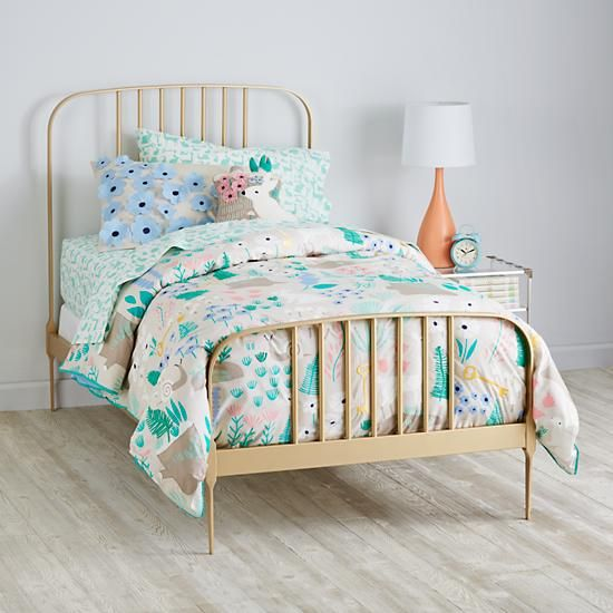 Larkin Metal Bed (Gold) Color is nice, but doesn't come in queen size.