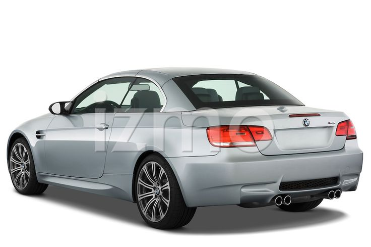 Rear View of silver 2008 BMW M3 Convertible