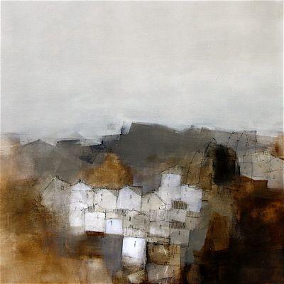 'Toscana' (2007) by Australian painter Roger Lane. Acrylic on canvas, 75 x 75 cm. via visual artist.info