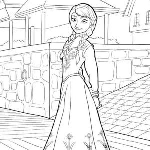 Gingerbread House Coloring Pages Frozen