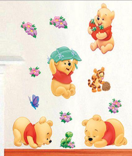 Wandaufkleber-Wandtattoo-Wandsticker-Deko-Winnie-Pooh-Kind-Kinderzimmer-WAK-083