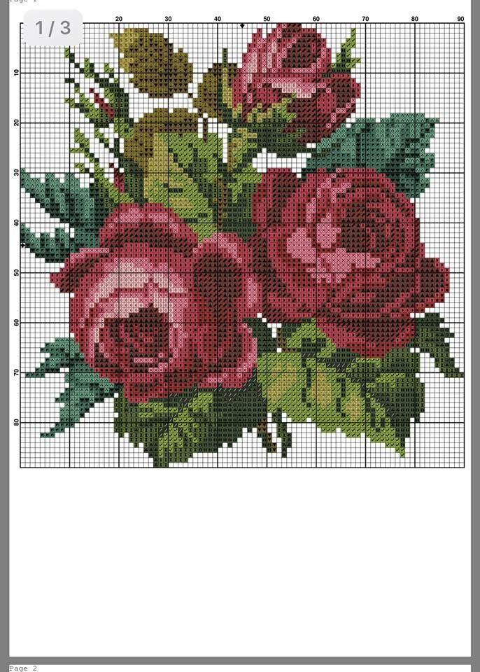 Pin By Heather Van Tol On Pano Cross Stitch Flowers Cross Stitch Rose Cross Stitch Patterns Flowers