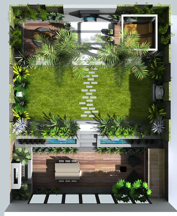 A small garden design in london ogrodnictwo pinterest for Teich design new york