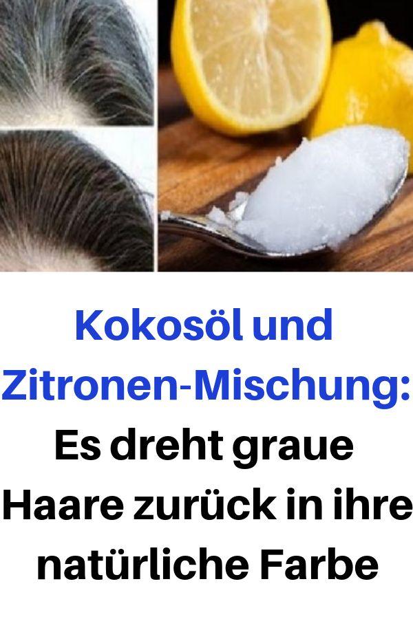 Kokosöl und Zitronen-Mischung: Es dreht graue Haare zurück in ihre natürliche …