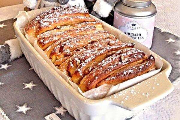 Sladký ořechovo-skořicový trhací chléb