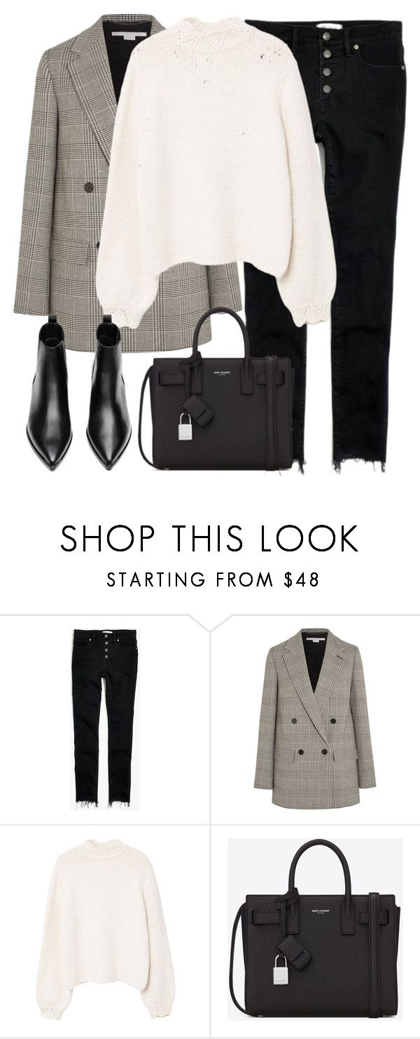 """Untitled #3258"" by elenaday on Polyvore featuring Madewell, STELLA McCARTNEY, MANGO, Yves Saint Laurent and Acne Studios"
