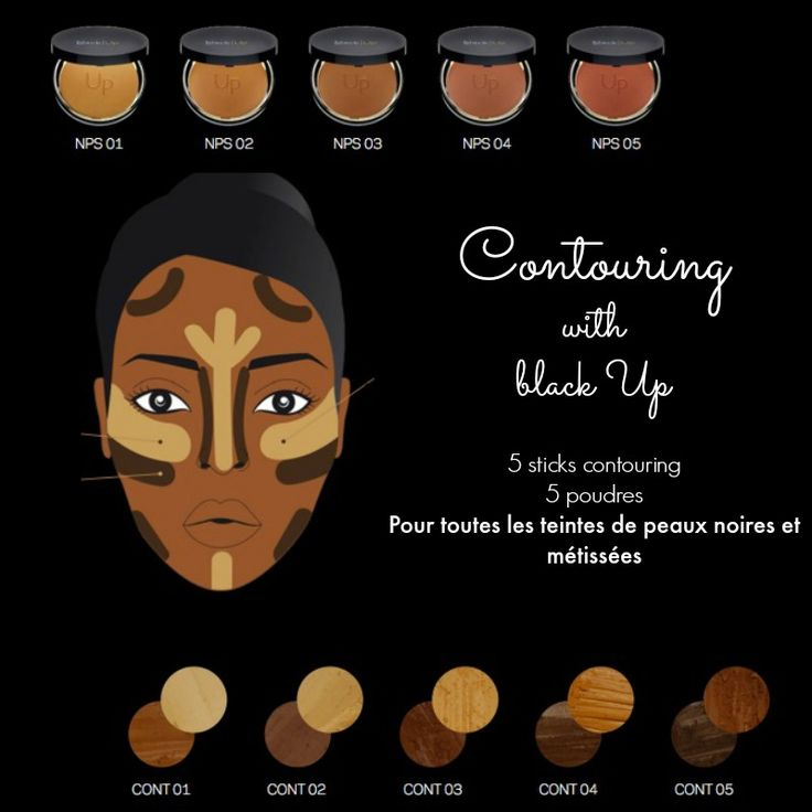 Contouring avec la marque Black Up, sur peau noire, le test !