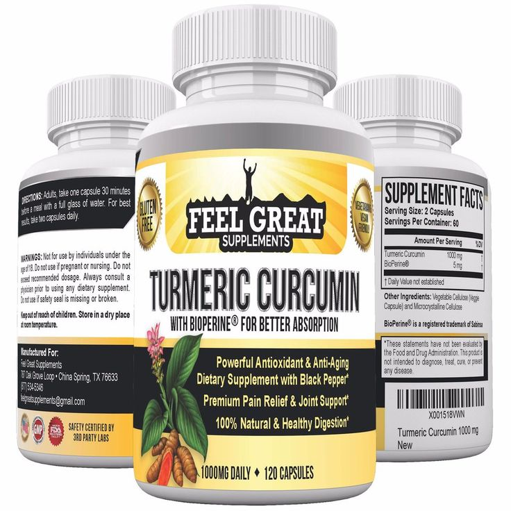 Feel Great Turmeric Curcumin with Bioperine Black Pepper Extract 1000mg-2 months supply #antiinflammatory #turmeric