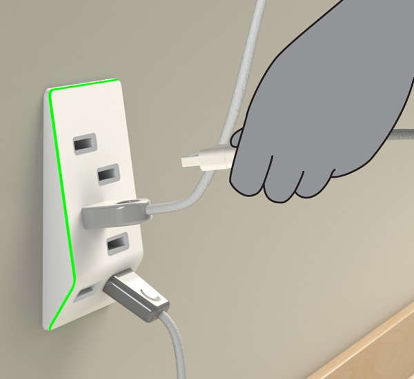Clever Gadget Charging Outlets - The 'Bolt' USB Outlet Upgrades Your Power Sockets with USB Ports