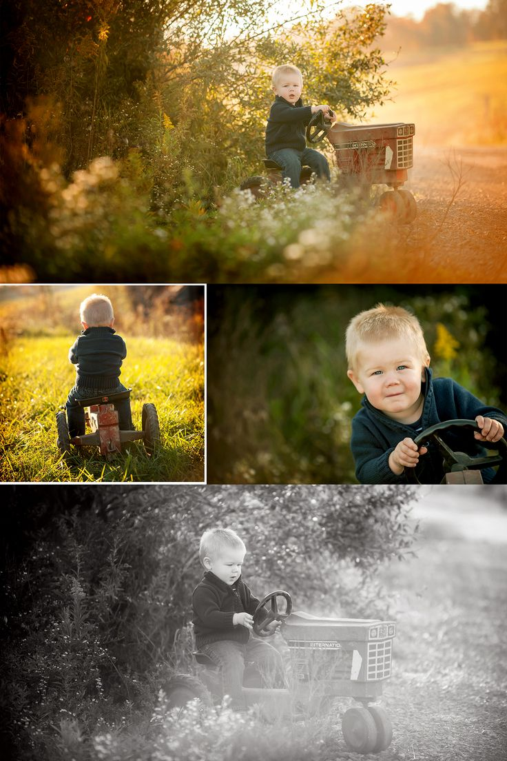 A farm and a family | Nikkala Anne Photography toddler boy photo session idea photography inspiration tractor country road