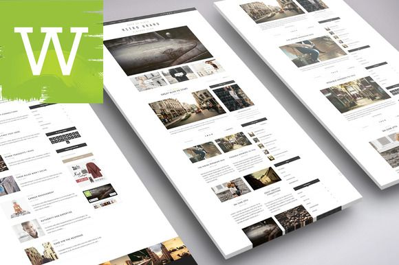 Extreme Clean WordPress Blog Theme by Wordica on ETSY