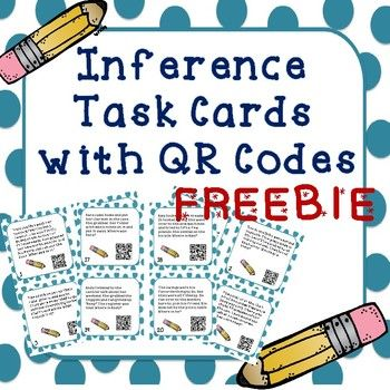 FREEBIE Inference Task Cards with QR Codes - repinned by @PediaStaff – Please Visit ht.ly/63sNtfor all our pediatric therapy pins