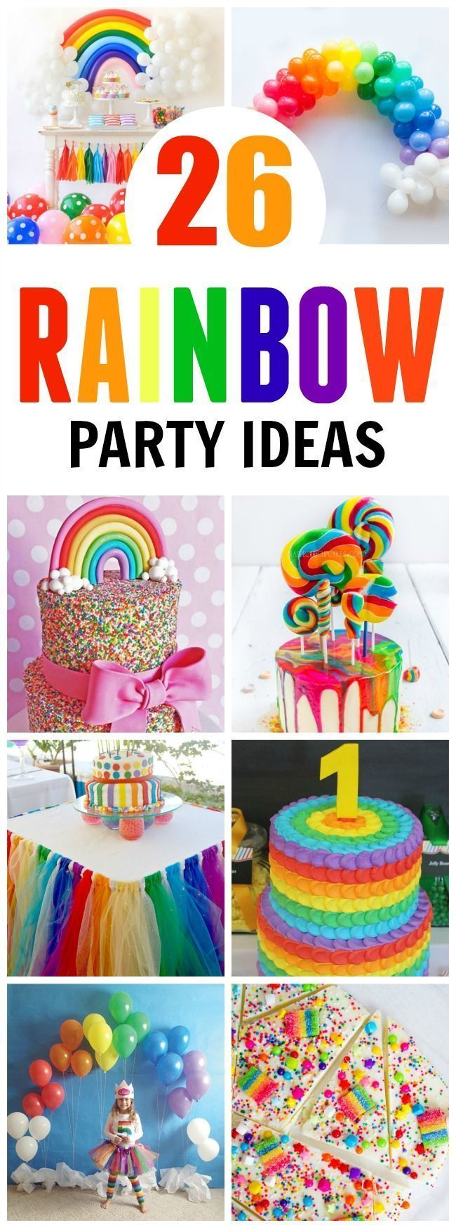 26 Rainbow Party Ideas featured on Pretty My Party