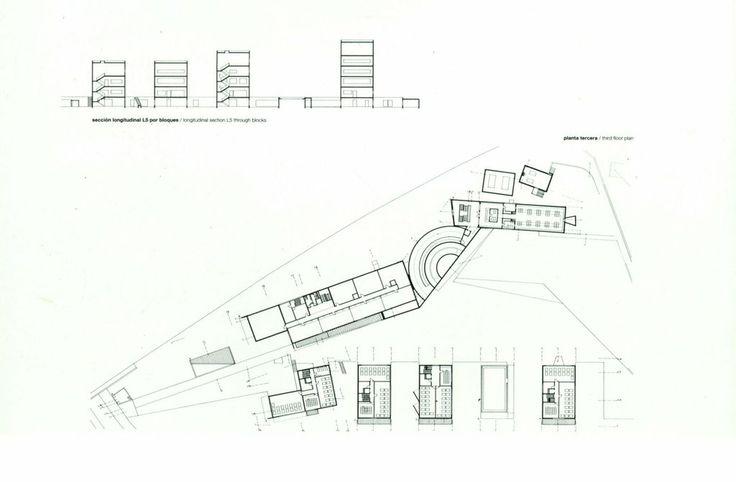 Upper Plan, School Architecture of Oporto, by Alvaro Siza Vieira, Arquiteto