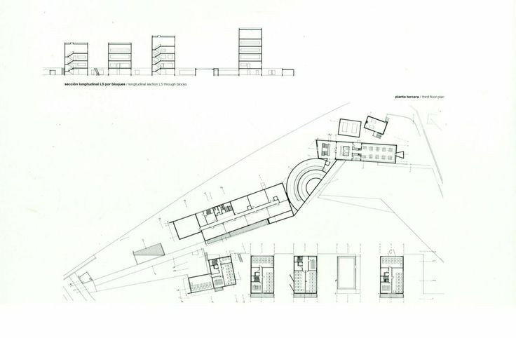 Upper Plan, School Architecture of Oporto, by Alvaro Siza Vieira, Arquiteto
