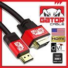 HDMI to DVI-D 241 Dual Link Cable Male Gold HDTV PC 1080P Display Adaptor 6FT