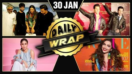 Padmaavat's Cake Cutting Kareena's Summer Look Deepika's Happy Issue | Daily Wrap | موفيز هوم  Watch Deepika Shahid Ranveer's cake cutting for Padmaavat Varun's Madame Tussauds wax statue Photoshoot of Deepika and Kareena and many more only on Daily Wrap.