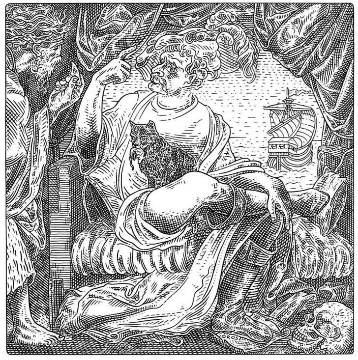 illusions optical illusion skull drawings orosz istvan drawing hidden skulls tattoo scary brain incredible teasers medieval ship cool sebastian brant