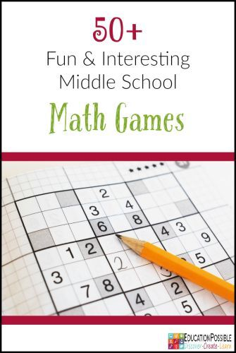 Looking for games to help you review math concepts? Middle school math - learning fractions, decimals, and algebra, is a bit more challenging. That's why I compiled this list of math games that would work for my older homeschoolers. These 50+ fun and intersting middle school math games will teach and challenge your junior high student.