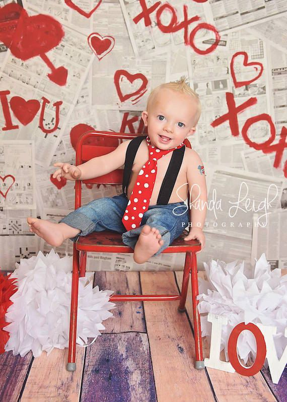 LOVE these little boy ties and bow ties to match anything you want!! Boys Polka Dot Neck Tie Boys Red Tie 1st Birthday by LKMstudios