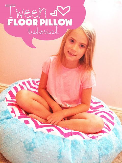 My Cotton Creations: Tween's Room Floor Pillow- uses 1 five lb box of stuffing