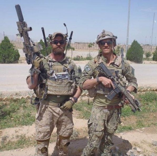 US Navy SEALs Patrick Feeks (KIA August 16th 2012) and Charlie Keating (KIA May 3rd 2016) in Afghanistan. Til Valhalla.